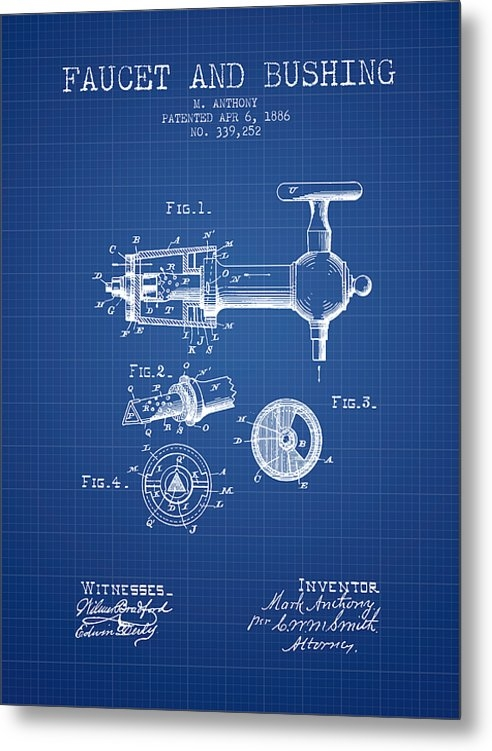 Aged Pixel - 1886 Faucet and bushing P... Print