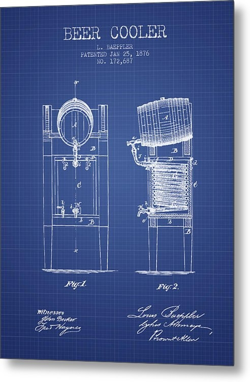 Aged Pixel - Beer Cooler  Patent From ... Print