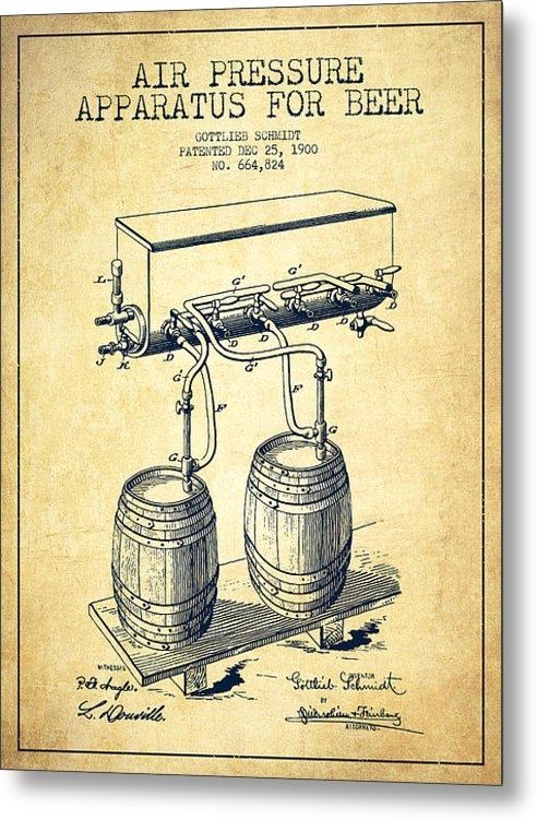 Aged Pixel - Apparatus for Beer Patent... Print