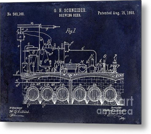 Jon Neidert - 1893 Beer Brewing Patent ... Print