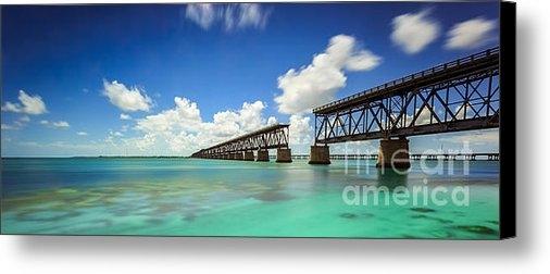 H Leschmann - Old Bahia Honda Bridge Fl... Print
