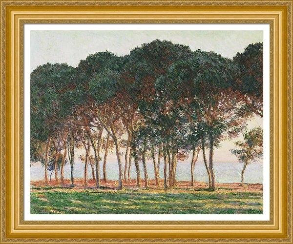 Claude Monet - Under the Pines. Evening Print