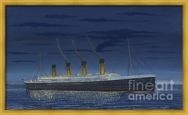 John Kinsley - RMS Titanic - Overnight a... Print