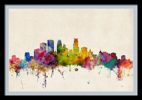 Michael Tompsett - Minneapolis Minnesota Sky... Print
