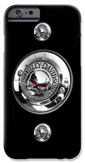 Gill Billington - Red Eye Harley Skull With... Print