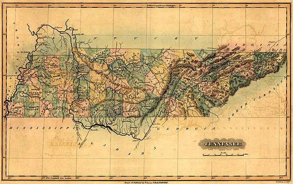 World Art Prints And Designs - Tennessee Vintage Antique... Print