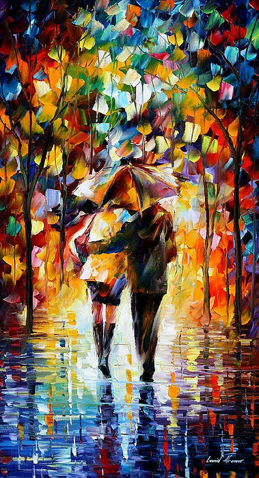 Leonid Afremov - Bonded By The Rain 2 - PA... Print