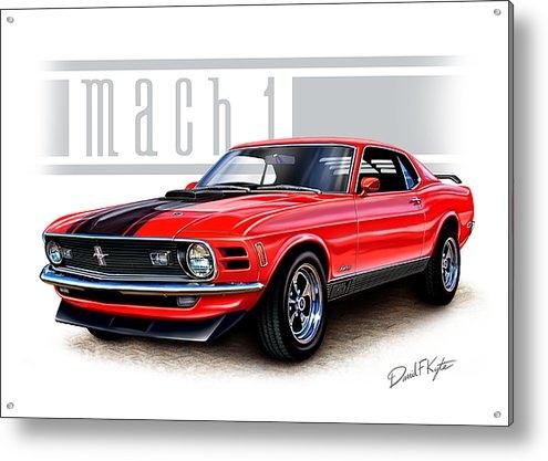 David Kyte - 1970 Mustang Mach 1 Red Print