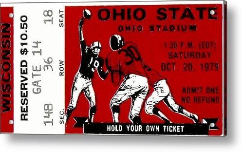 David Patterson - 1979 Ohio State vs Wiscon... Print