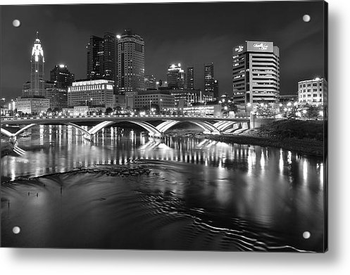 Frozen in Time Fine Art Photography - Columbus Ohio Black and W... Print
