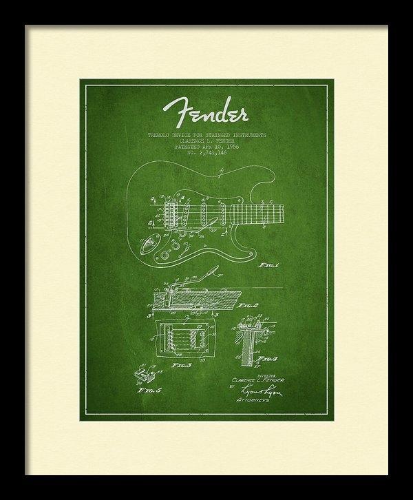 Aged Pixel - Fender Tremolo Device pat... Print