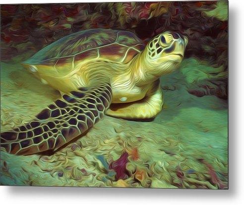 Lanjee Chee - Underwater turtle 1 Print