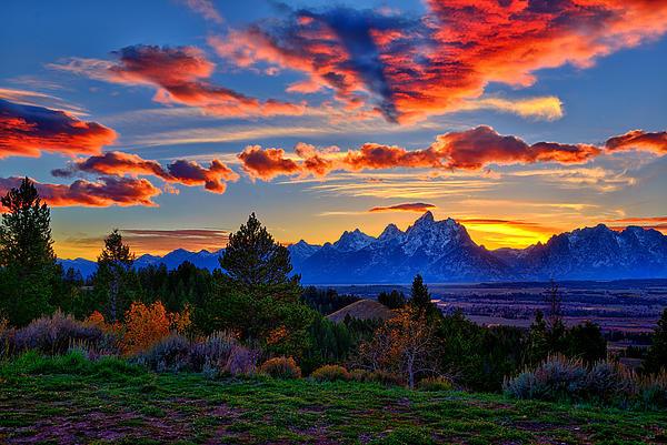 Greg Norrell - Grand Teton Sunset Print