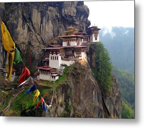 Lanjee Chee - Famous tigers nest monast... Print