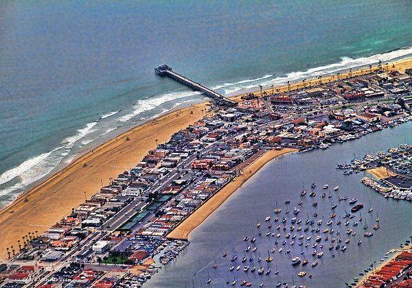 Clare VanderVeen - Newport Beach FlyOver Print