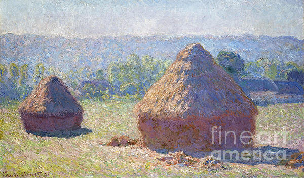 Claude Monet - Haystacks - end of Summer Print