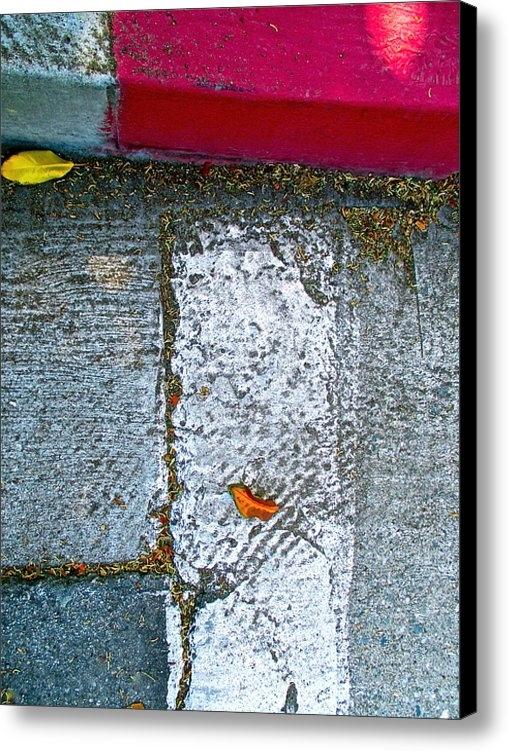 Mimi Seton - Sidewalk With Falling Lea... Print