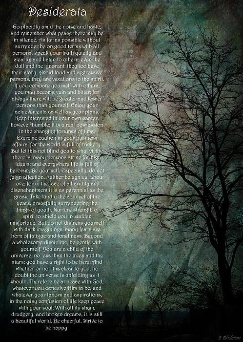 Jordan Blackstone - Desiderata Of Happiness -... Print