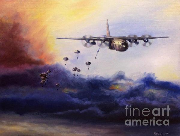 Stephen Roberson - Airborne Jump Print