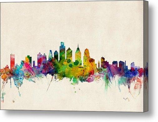 Michael Tompsett - Philadelphia Skyline Print