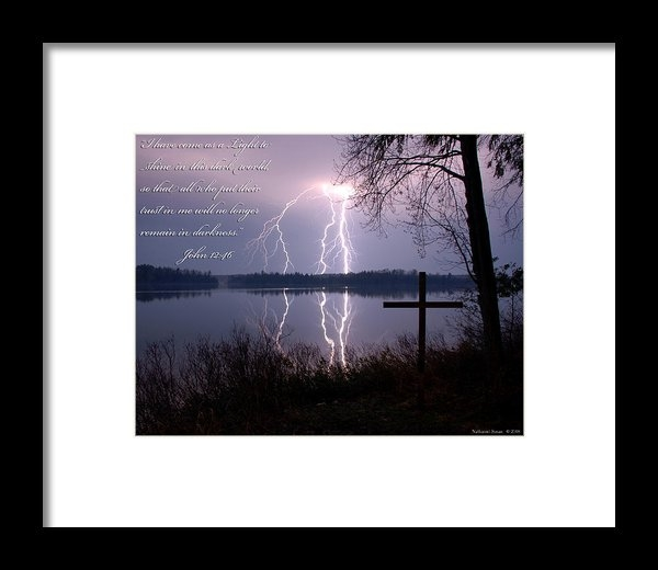 Nathaniel Susan - Lightning with Cross  Print