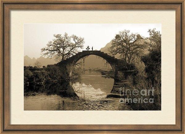King Wu - Ancient stone bridge Print