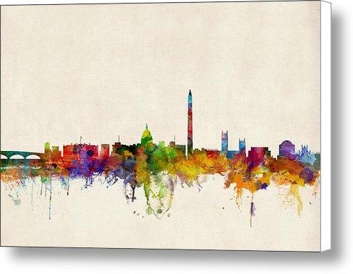 Michael Tompsett - Washington DC Skyline Print