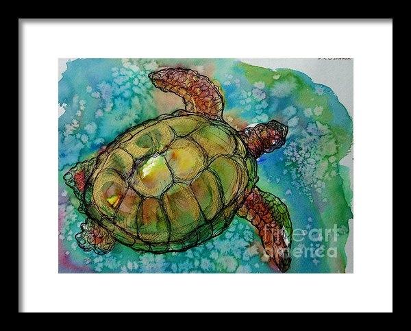 M C Sturman - Sea Turtle Endangered Bea... Print