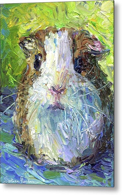 Svetlana Novikova - Whimsical Guinea Pig pain... Print