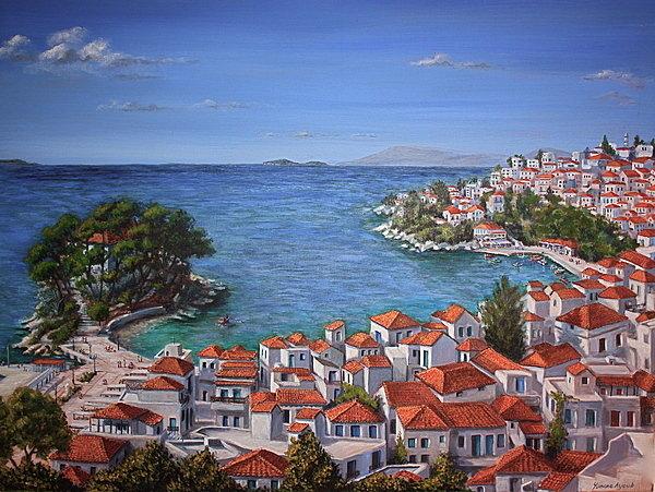 Yvonne Ayoub - Skiathos Harbour Print