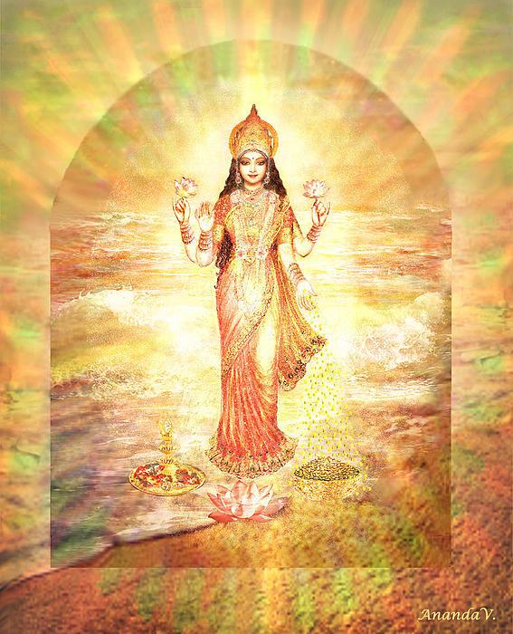 Ananda Vdovic - Lakshmis Birth from the M... Print