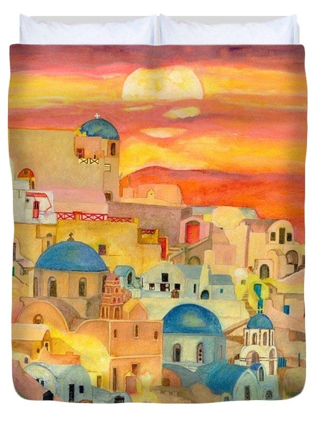 Sandra Warne - Santorini Sunset Print