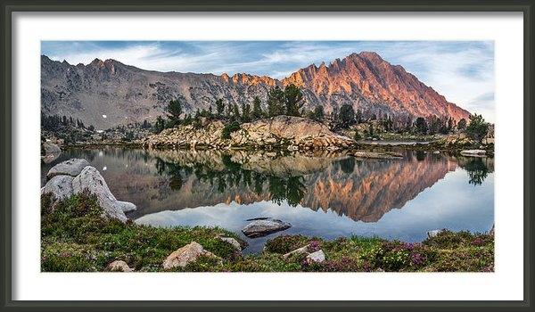 Leland D Howard - Castle Peak Reflection Print