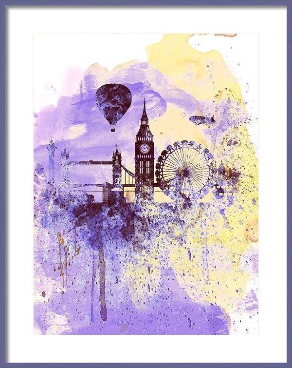 Naxart Studio - London Watercolor Skyline Print