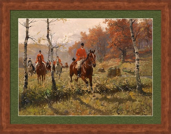 George Carl Koch - The Autumn Hunt Print