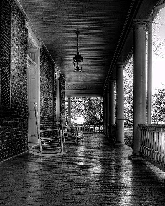 Steve Hurt - Avenel Front Porch - BW Print