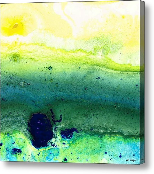 Sharon Cummings - Green Abstract Art - Life... Print