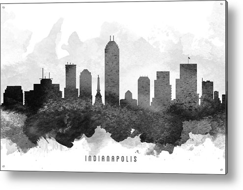 Aged Pixel - Indianapolis Cityscape 11 Print
