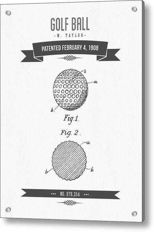Aged Pixel - 1908 Taylor Golf Ball Pat... Print