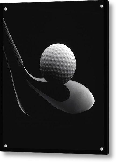 John Wong - Golf Ball And Club Print
