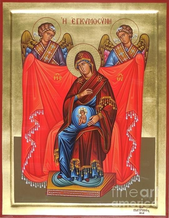 Theodoros Patrinos - Virgin Mary in pregnancy Print