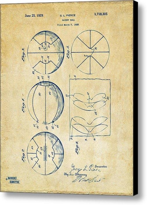 Nikki Marie Smith - 1929 Basketball Patent Ar... Print