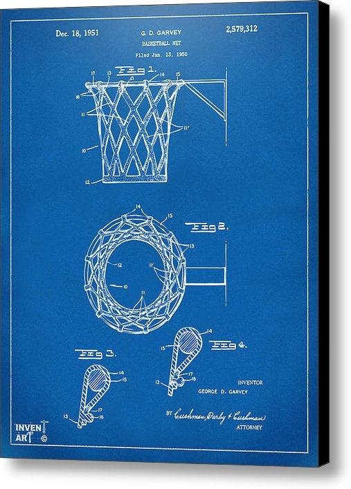 Nikki Marie Smith - 1951 Basketball Net Paten... Print