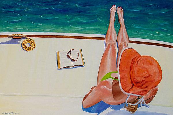 Mary Susan Vaughn - Hanging Ten Print