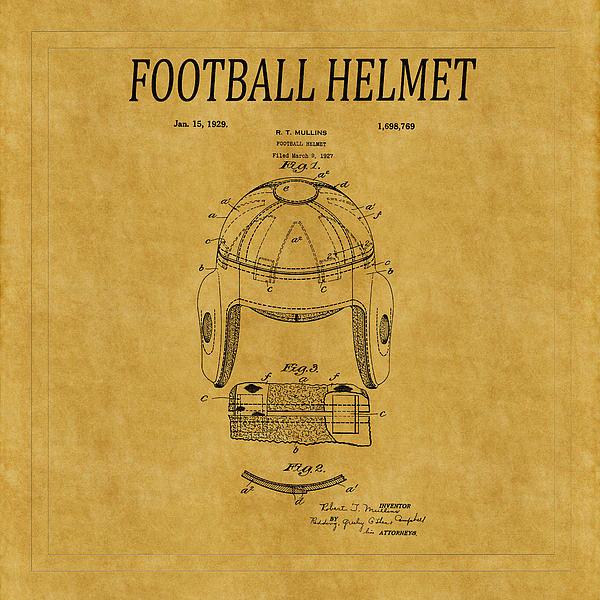 Andrew Fare - Football Helmet Patent 1 Print