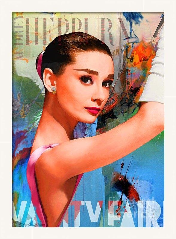 Sheila Elsea - Audrey hepburn Vanity Fai... Print