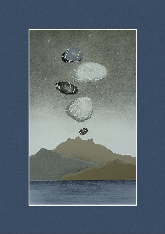 Nancy Hilgert - Volcanic Pebbles II Print