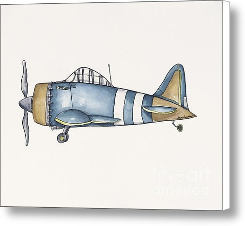 Annie Laurie - Blue and Gold Plane - One Print