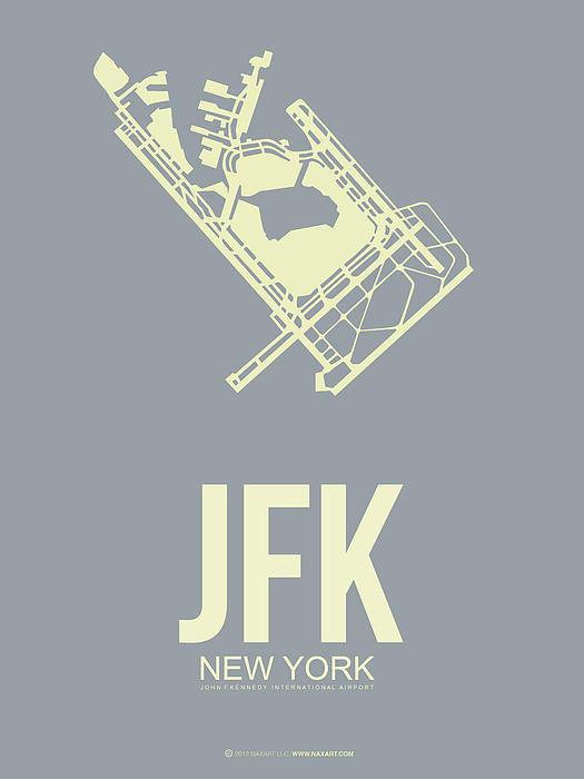 Naxart Studio - JFK Airport Poster 1 Print