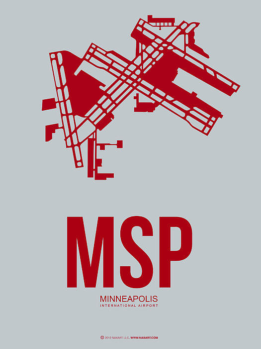 Naxart Studio - MSP Minneapolis Airport P... Print
